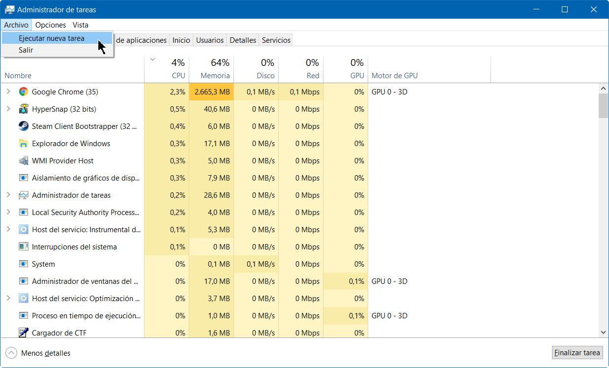 A fondo: administrador de tareas de Windows 10 Fall Creators Update 50