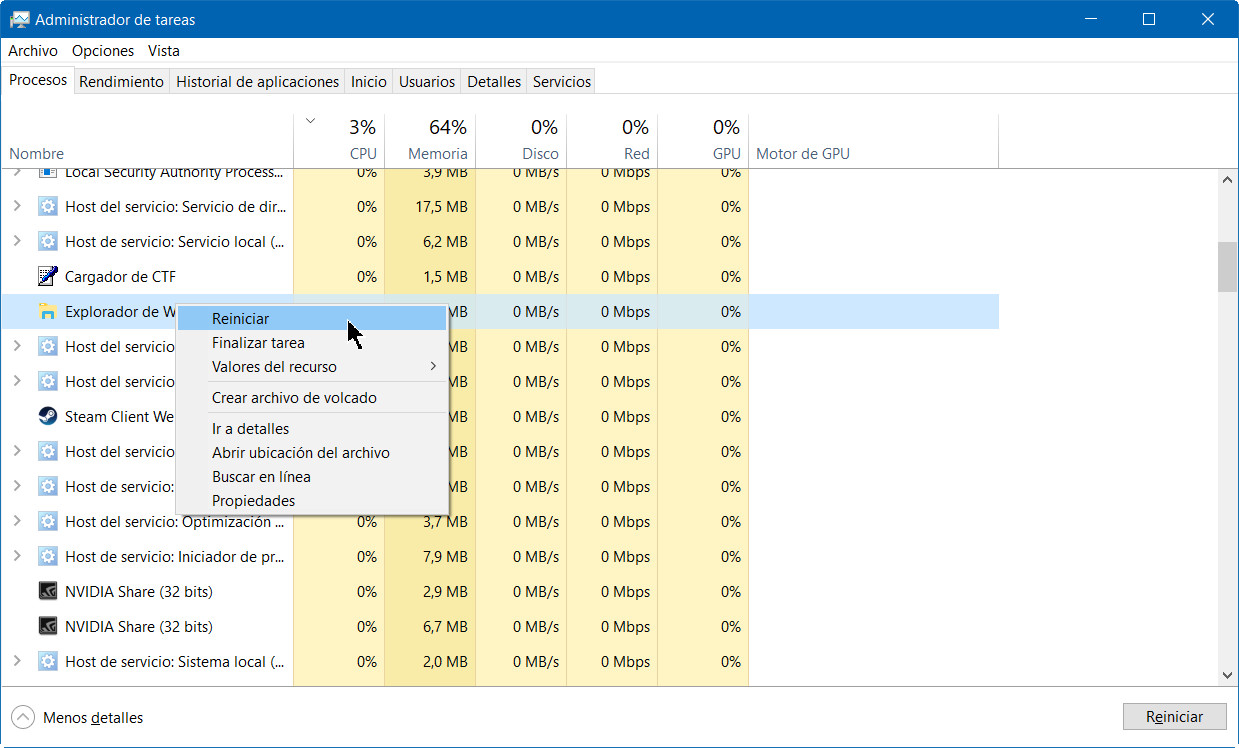 A fondo: administrador de tareas de Windows 10 Fall Creators Update 35
