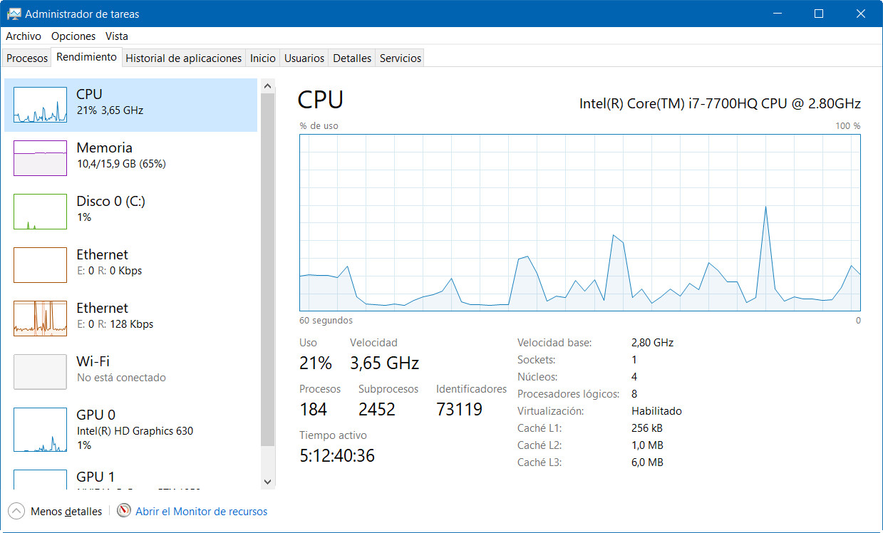 A fondo: administrador de tareas de Windows 10 Fall Creators Update 37