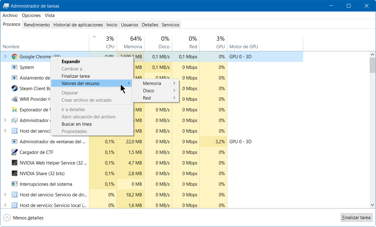 A fondo: administrador de tareas de Windows 10 Fall Creators Update 44