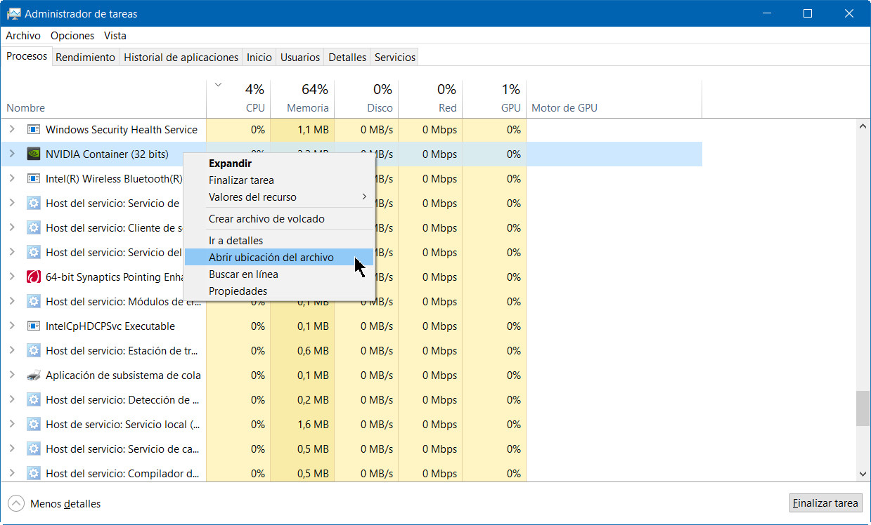 A fondo: administrador de tareas de Windows 10 Fall Creators Update 48