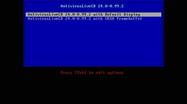 Antivirus Live CD