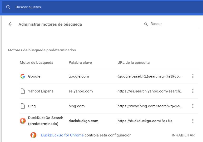 Google añade DuckDuckGo en Chrome ¿Cómo se cambia el motor de búsqueda por defecto? 34