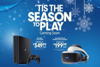 Sony baja el precio de PS4 Pro y el PSVR para Navidad