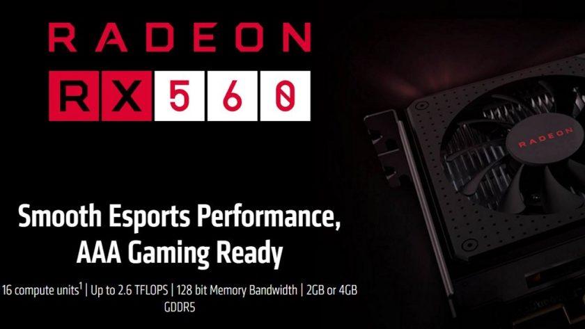 Radeon RX 560 tiene dos versiones con distinto conteo de shaders