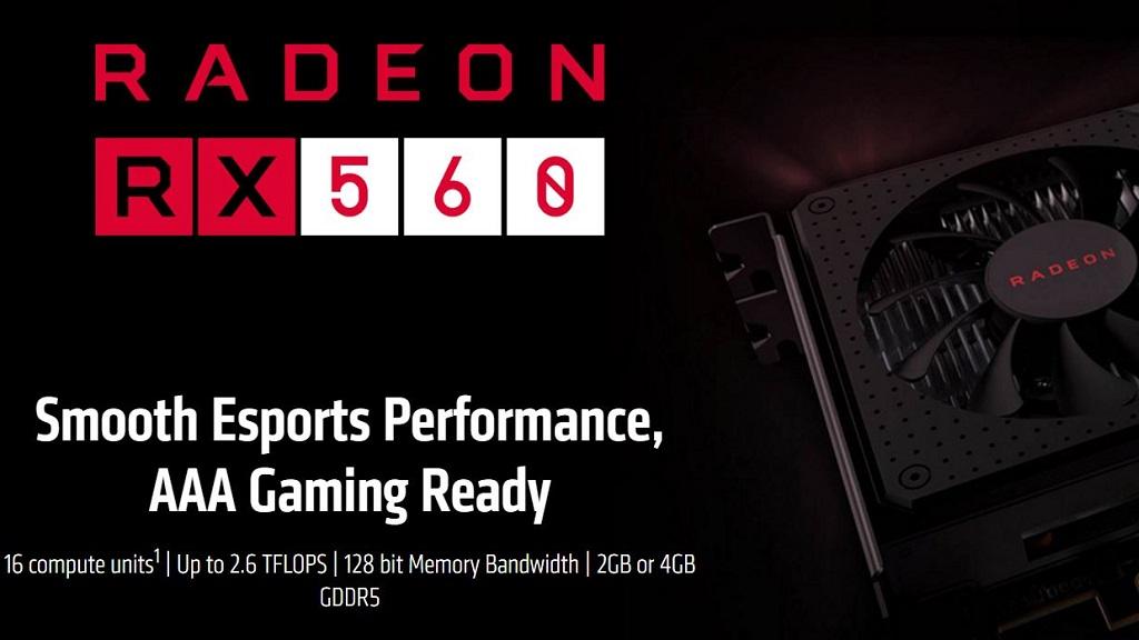 Radeon RX 560 tiene dos versiones con distinto conteo de shaders 29