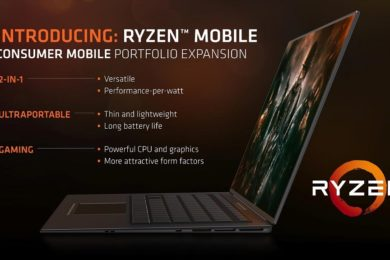 AMD confirma SoCs Ryzen Mobile con módems Qualcomm X16