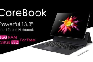 Chuwi sigue mejorando el CoreBook, montará un SSD de 128 GB sin coste