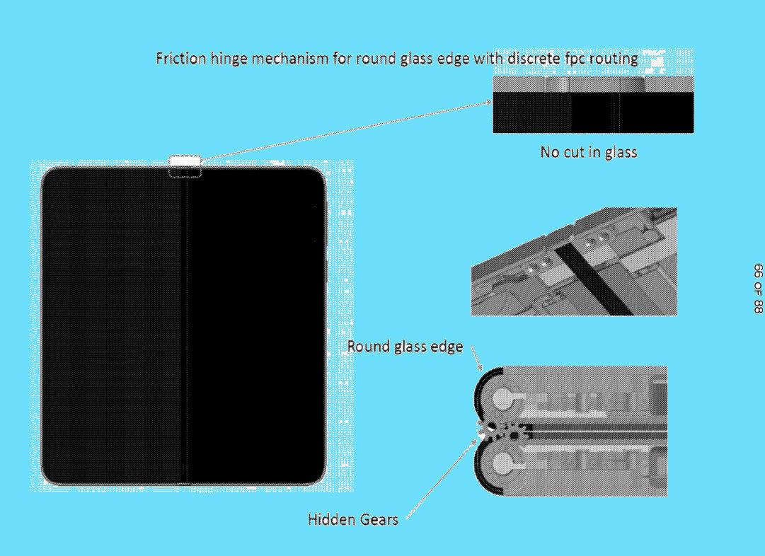 Otra patente para un Surface Phone plegable con doble pantalla OLED 42