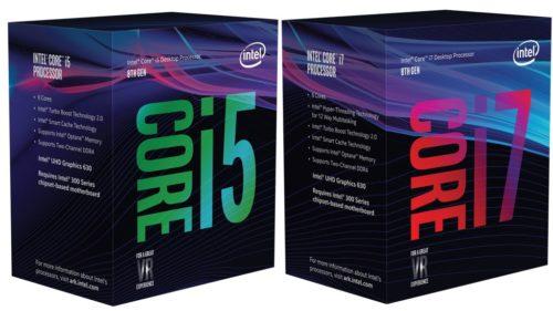 Core i3-8300 y Core i5-8500 listados, precios