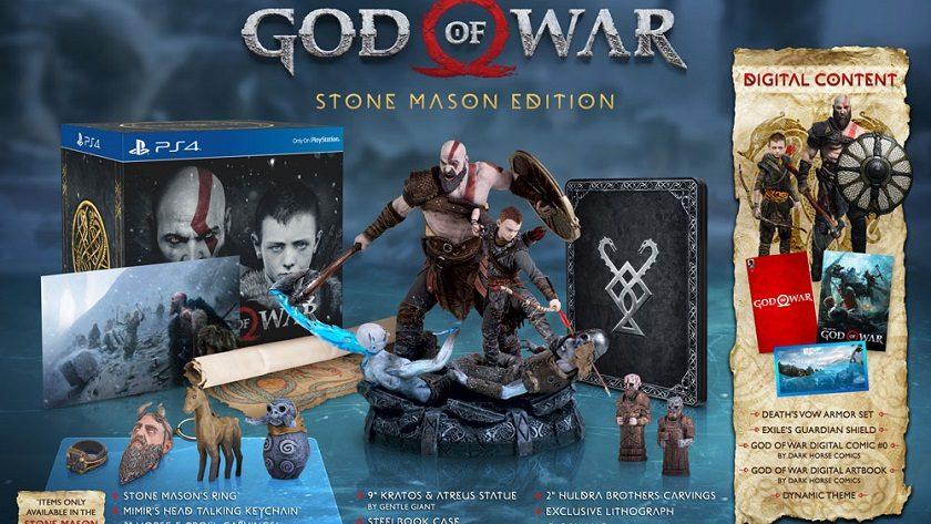 Anunciado God of War Stone Mason Edition, un lujazo cargado de extras