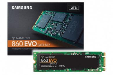 Las SSD 860 EVO de Samsung aumentarán capacidad hasta 4 TB