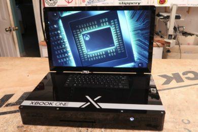 Xbook One X; una Xbox One X con cuerpo de portátil