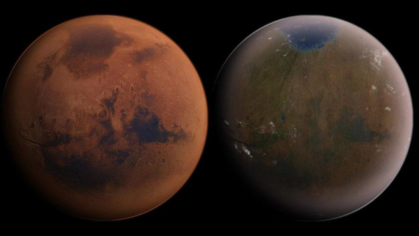 La NASA encuentra grandes reservas de agua en Marte