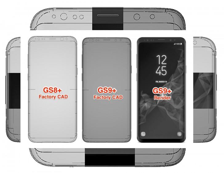 Nuevos CADs confirman reducción de bordes en el Galaxy S9+ 33