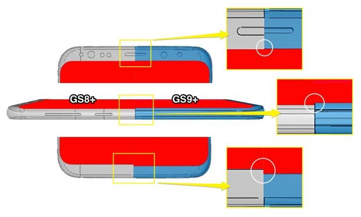 Nuevos CADs confirman reducción de bordes en el Galaxy S9+ 35