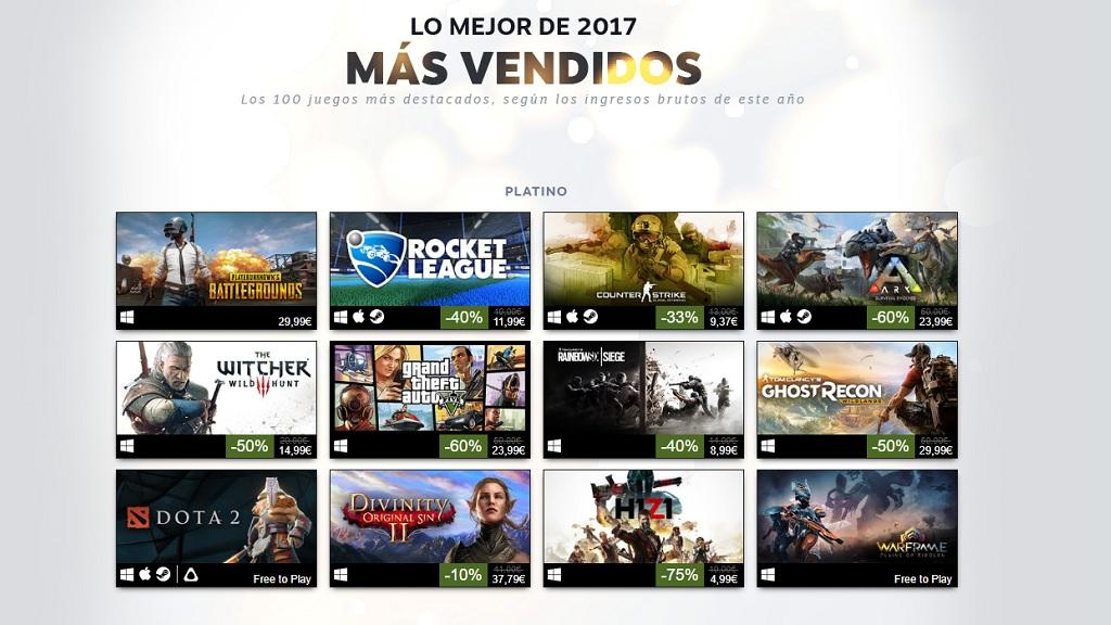 Estos han sido los juegos más vendidos en Steam en 2017 29