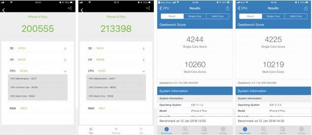Rendimiento de los iPhone 7 y iPhone 8 tras los parches contra Meltdown y Spectre 29