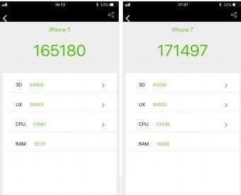 Rendimiento de los iPhone 7 y iPhone 8 tras los parches contra Meltdown y Spectre 33