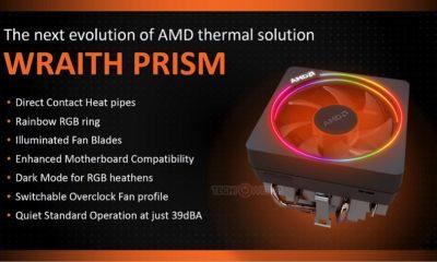 AMD Wraith Prism; conoce al ventilador que acompañará a Ryzen+ 75