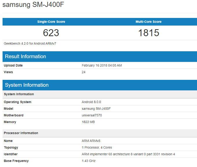 Samsung prepara un Galaxy J4 (2018); especificaciones 32