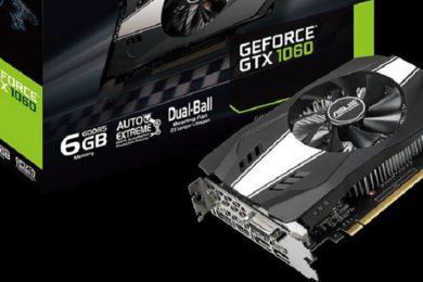 ASUS anuncia la GeForce GTX 1060 6 GB Phoenix, un modelo muy compacto
