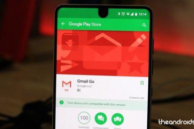 Gmail Go llega a la Google Play Store, una versión más eficiente