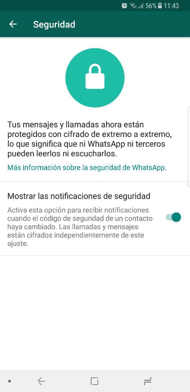 Cómo mejorar la seguridad y privacidad de Whatsapp 52