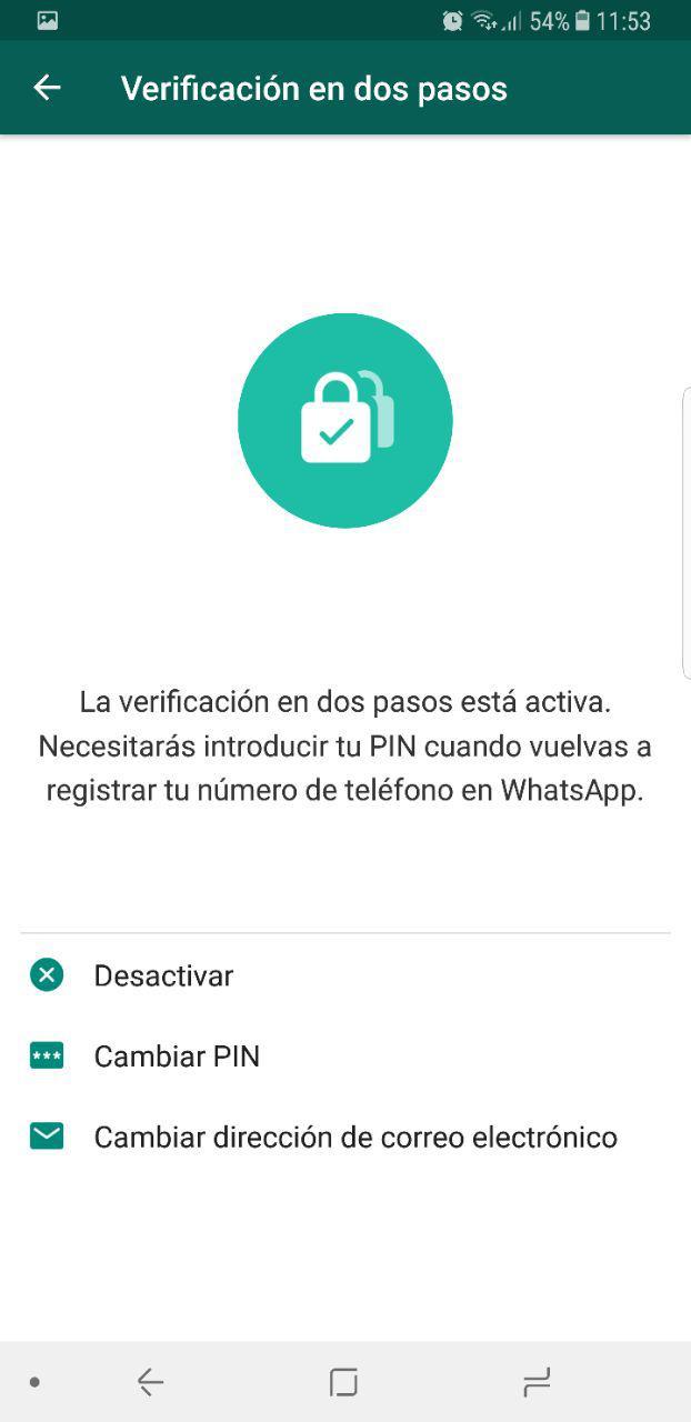 Cómo mejorar la seguridad y privacidad de Whatsapp 54