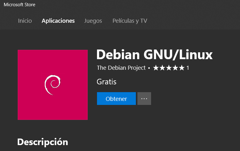 Debian GNU/Linux llega a la Microsoft Store 30