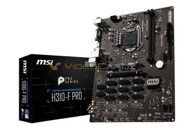 MSI H310-F PRO es la primera placa base H310 para minado de criptodivisas