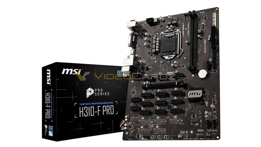 MSI H310-F PRO es la primera placa base H310 para minado de criptodivisas 29
