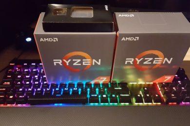 Ryzen 7 1700 a 4 GHz frente a Core i7 8700 en juegos a 4K