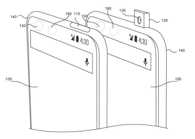 Essential patenta sistema de cámara frontal emergente 30