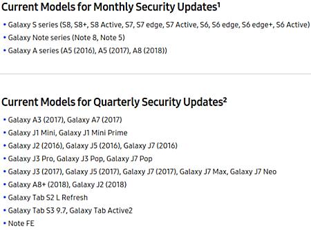 Samsung aclara el ciclo de actualizaciones de seguridad de sus smartphones 32
