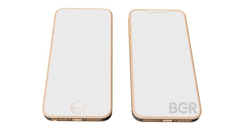 Diseño esquemático del iPhone SE 2; acabado todo pantalla 19:9