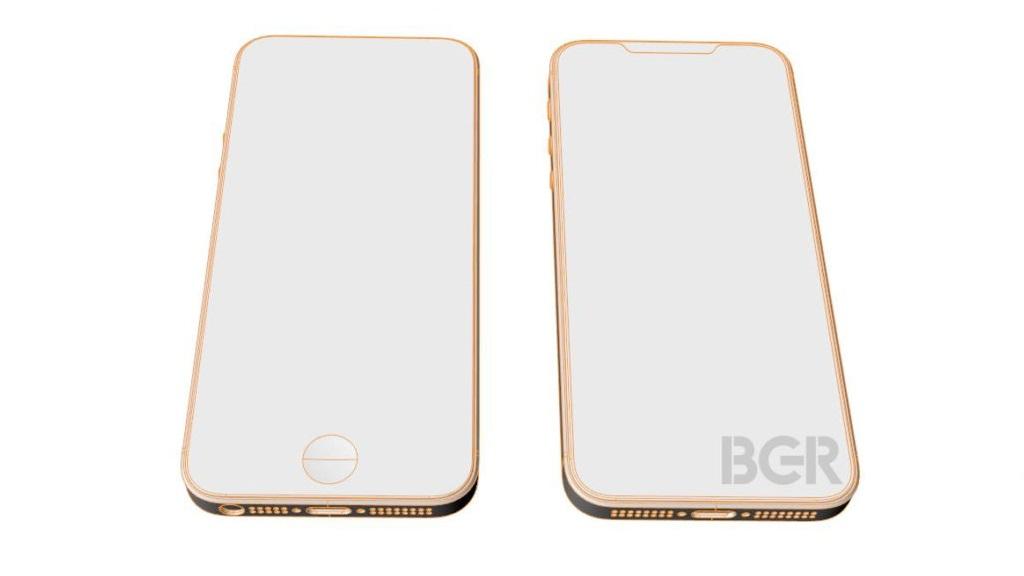 Diseño esquemático del iPhone SE 2; acabado todo pantalla 19:9 30