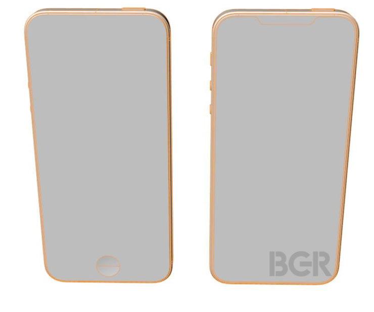 Diseño esquemático del iPhone SE 2; acabado todo pantalla 19:9 32