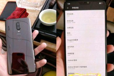 Filtradas las especificaciones del OnePlus 6