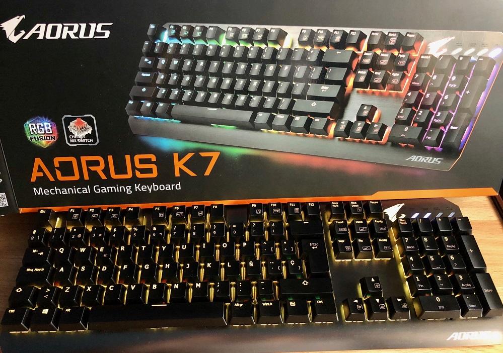 Análisis del teclado mecánico AORUS K7: belleza equilibrada 34