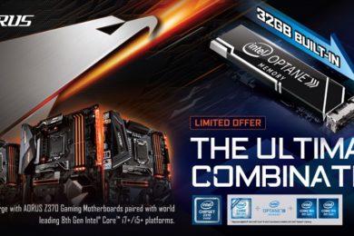 GIGABYTE presenta nuevas placas base AORUS Z370 con Intel Optane integrada