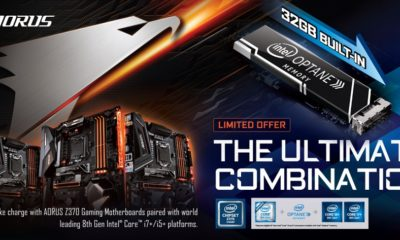 GIGABYTE presenta nuevas placas base AORUS Z370 con Intel Optane integrada 103
