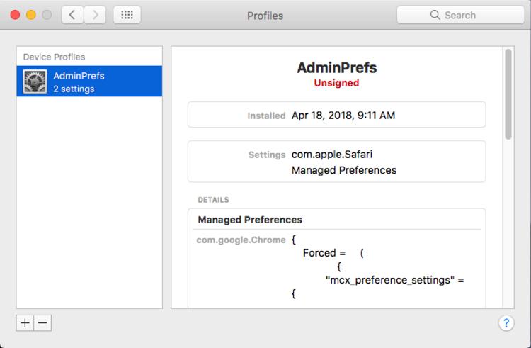 Eliminar en macOS (Mac) el perfil de configuración malicioso creado por Crossrider