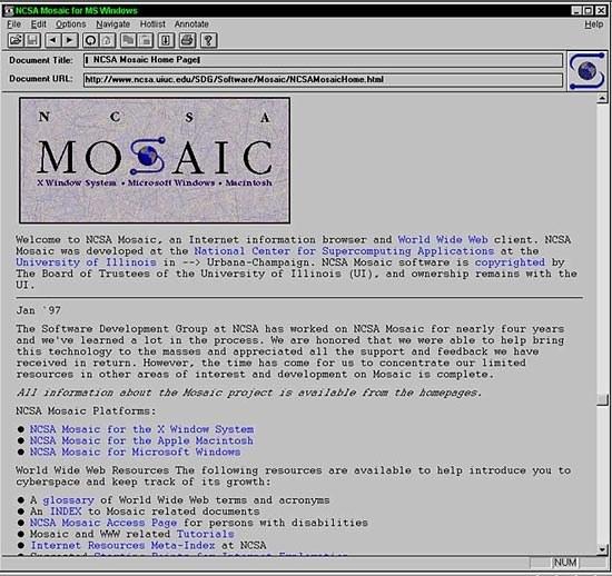 25 años de Mosaic, el navegador que iluminó la Web 30