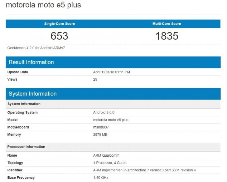 El Moto E5 Plus asoma en GeekBench, especificaciones de este nuevo smartphone 30