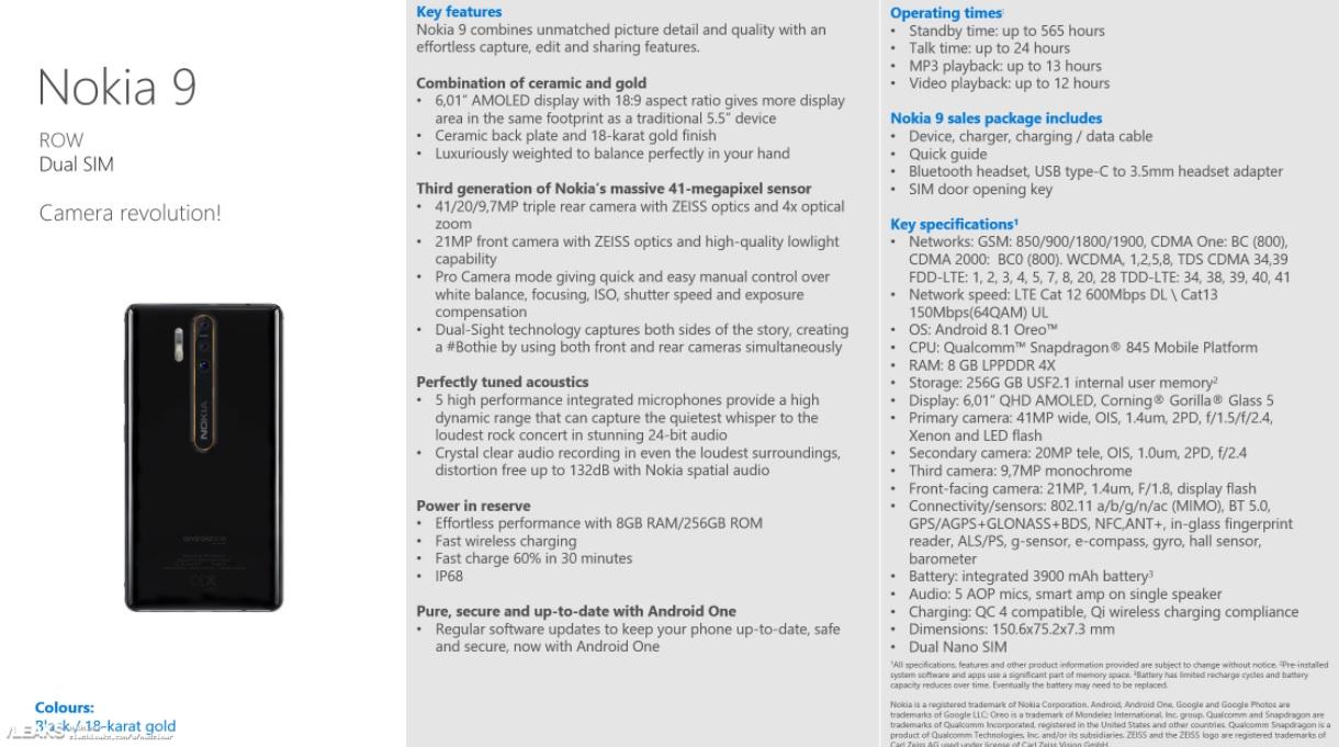 Filtradas las especificaciones del Nokia 9: Triple cámara 31