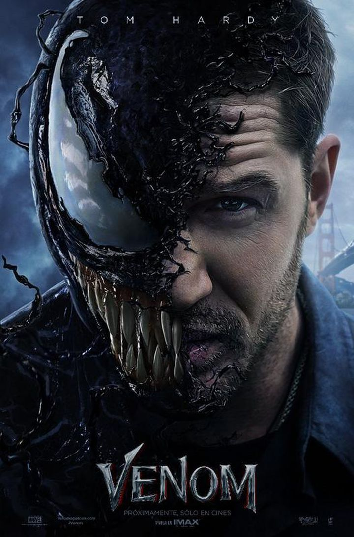 Póster oficial de Venom, película de Sony Pictures