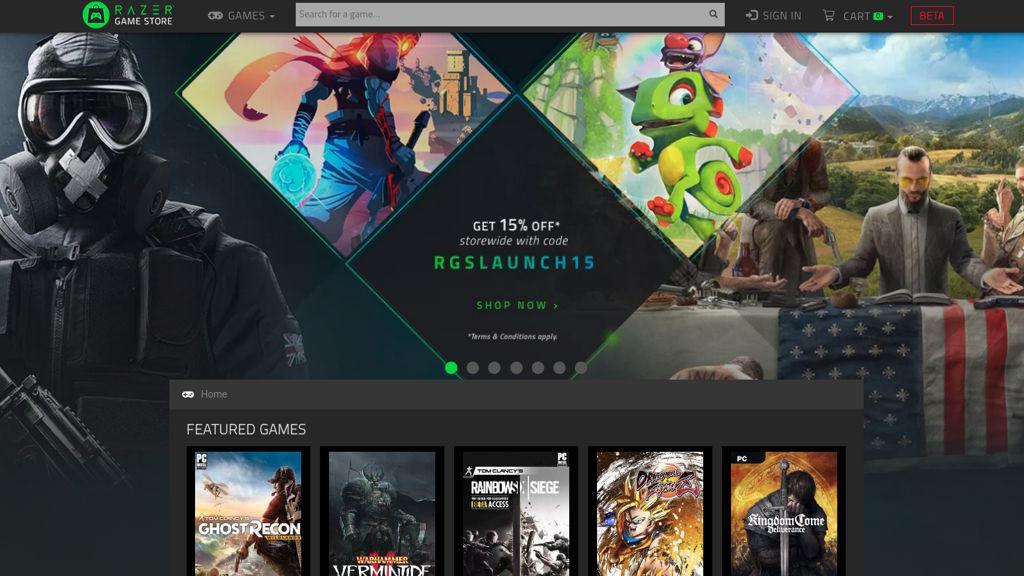 Razer Game Store es la tienda de juegos del fabricante de productos para gamers