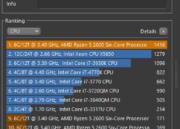 Ryzen 5 2600 a 4,05 GHz con memoria DDR4 a 3.466 MHz 35
