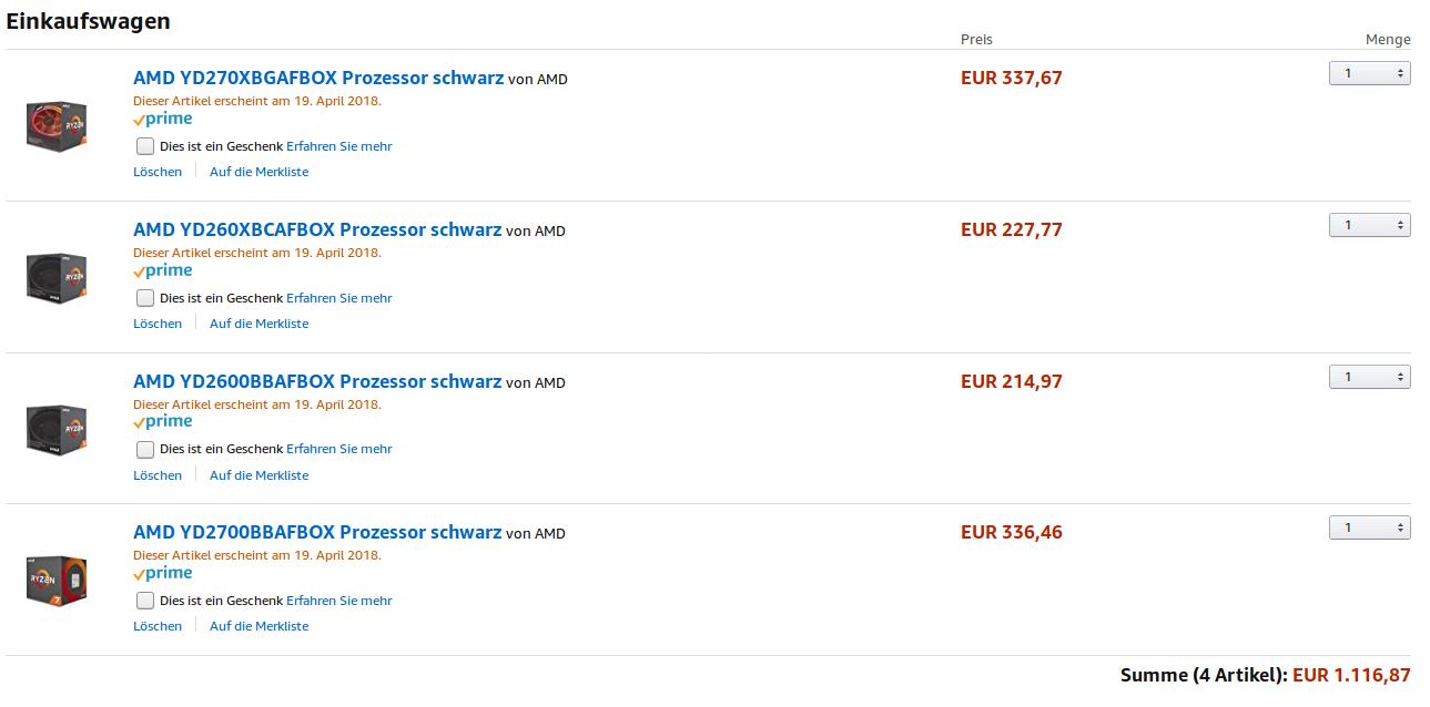 Listados los procesadores Ryzen serie 2000, vemos sus precios 32